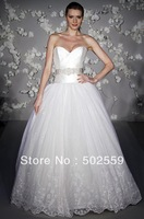 LC0123 free shipping high-end  taffeta sweetheart off the shoulder wedding dress