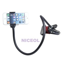 NI5L Durable Flexible Long Arms Lazy Bed Desktop Mobile Phone Holder Stand Black