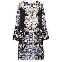 Fashion long-sleeve dress plus size quinquagenarian women's autumn nightgown lounge