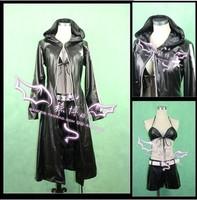Hot sale Custom made Black Rock Shooter Cosplay Costume(Freeshipping)