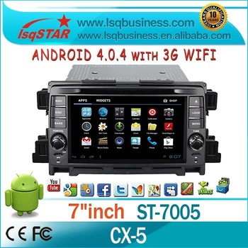 Wholesale Freeshipping Android 4.0 System For fm radio 2012 Mazda CX-5  with 3G Wifi GPS Android System ST-7005