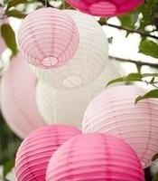 "24 PCS/LOT   8"" (20 cm) Chinese Round Paper Lantern  Festival Lantern Wedding decoration Free Shipping Wedding favors and gifts"