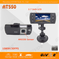 Popular Design 2.7 inch LCD NTK96650 AR0330 Car Video Recorder Full HD 1080P WDR + 148 Degree Lens + G-Sensor CPAM Free Shipping