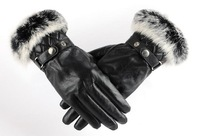 Lady leather gloves, leather gloves to keep warm gloves qiu dong's classic free shipping