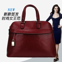 2013 autumn and winter women's ol genuine leather handbag formal fashion messenger bag white collar one shoulder handbag women's