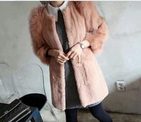 2013 Women autumn and winter fashion elegant noble elegant rabbit fur women's thermal slim fox fur coat