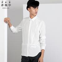 free shipping Fashion 2013 men's clothing patchwork 54130032 long-sleeve shirt
