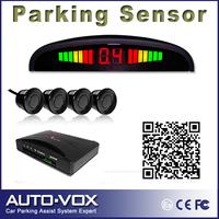 Car LED Parking sensor Reverse Backup Radar System with 4 Sensors free shipping Wholesale