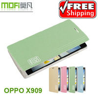 Free shipping Genuine Brand Mofi ZHI series Flip Leather Case for OPPO Find 5 X909 High Quality leather case+retail box