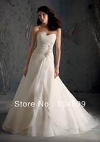 wedding  Dress Style 5169 Crystal Beaded Appliques on Satin Organza