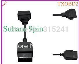 9 Pin to 16 Pin OBD 2 Diagnostic Cable for Subaru , subaru 9 pin connector cable