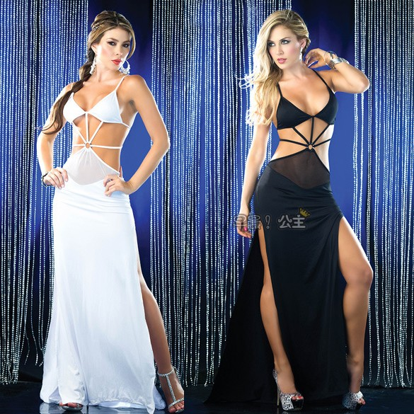 Sexy evening dress full dress sexy prom queen of elastic tight-fitting racerback full dress Latin dance(China (Mainland))