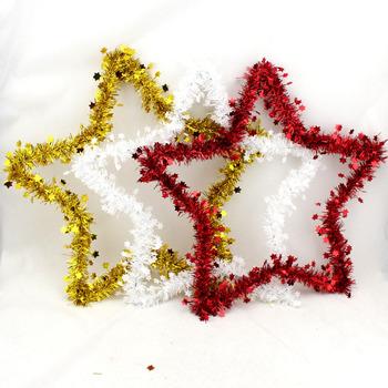 Рождественская елка украшения Рождественский венок Рождественский пятиконечная звезда Гирлянда Бесплатная пересылка