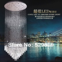 Free shipping  crystal chandelier  fashion hybrid-type stair crystal round lights customize Dia900*2000mm
