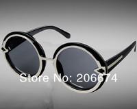 NEW 1085 Unisex Stylish Plastic Sunglasses (Black.blue)+free shipping