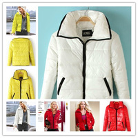 NEW HOPE Top Brand Candy Color Coat Temperament Wild, Fashion Short Woman Cotton-Padded Clothes Jacket, Free Shipping, 6 Colors