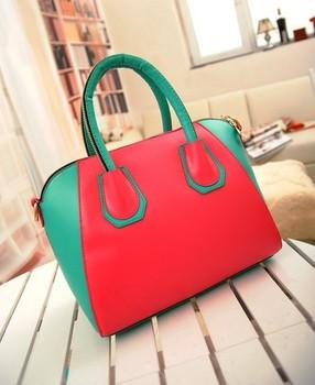 women's handbag patchwork candy color block portable messenger small bags handbags genuine leather women messenger bag flowers
