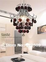 Free shipping Crystal pendant Light, luster burgundy lighting home