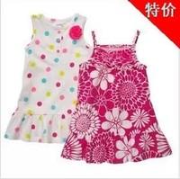 13 brand new design HOT carter baby girls dress princess summer dress 100% cotton two style