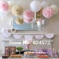 12inch Tissue Paper PomPoms Flower Balls Wedding favors/ party decoration/ Shower Decoration 10pcs/lot