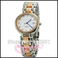 2013 new hot real senior quartz movement sapphire crystal scratch strip waterproof Calendar watch Swiss Business Women L106