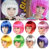 Hot Sell 2013 New Fashion Style Free Shipping Wig Masquerade Party Supplies Bobo Wig Color Red Yellow Blue Green Purple White