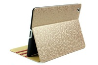 Luxury bling bling Diamond pattern High quality leater case for ipad 2 3 4 stand protective cover, FreeShipping