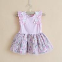 5 pcs/lot 2013 Newest children clothes girl flower dress high quality fashion designer 100% cotton