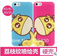 FREE SHIPPING Hot Sale Couple Girl Friend Gift Painted Fawn Deerlet case for iphone  4 5s christmas gift