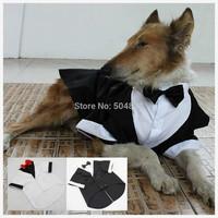 Large dog TUXEDO formal clothes big dog wedding/party suit bridegroom wear white black