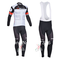 Free Shipping!2013 NALINI TEAM Thermal Fleece Cycling Jersey Long Sleeve and Cycling bib Pants!hot sale
