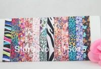 12 Colors FOE Free shipping 120pcs Fold Over Elastic Hair Ties bracelet print  wristbands ponytail holder for girl