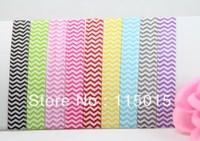 9 Colors Chevron FOE Free shipping 120pcs Fold Over Elastic Hair Ties bracelet Hair Accessory Free Shipping