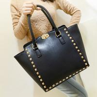 2013 women's fashion handbag Warren rivet bag color block candy color one shoulder cross-body