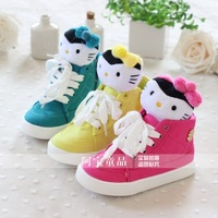 Children shoes female child 2013 baby shoes princess shoes children shoes kt high skateboarding shoes casual shoes