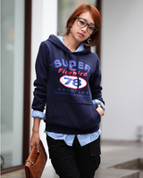 2013 new korean style high quality autumn -winter thickening couple sweater sweatshirt  pullover women's print cute hoodies