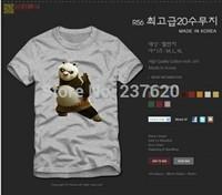 Free shipping kids t shirt kung fu panda pose printed t shirt kungfu panda tee shirt 100% cotton 90/100/110/120/130/140/150cm