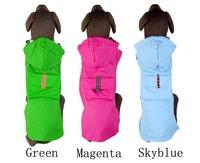 Large Dog Heavy Duty Raincoat big dog hoody  PVC rainjacket green hot pink light blue