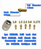 DREMEL Multipro Drill Lock Nut,5pcs A grade Copper chucks,electric drill head locked chuck kits,Rotary Dremel accessories
