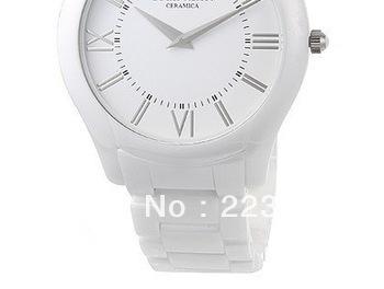 100% Authentic ! 100% Authentic wristwatches AR1443 ladies white CERAMIC WATCH Original box +Certificate