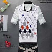 Dimond mrfrak plaid vest male sweater vest male V-neck 100% cotton knitted sweater fashion brief nobility