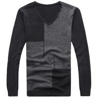 Mrfrak sweater thin sweater V-neck Men autumn sweater fashionable casual men's