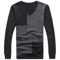 Mrfrak sweater thin sweater V-neck Men autumn sweater fashionable casual men's