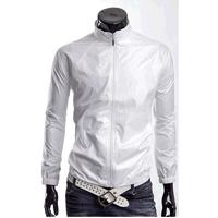 Mrfrak 2012 autumn new arrival quick-drying jacket slim coat cardigan clothes male white