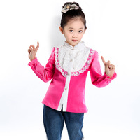 Children's Clothing Female Child spring and Autumn 2013 Basic Shirt Medium Large T-shirt Child Long Sleeve Shirt
