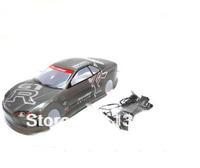 /10 Remove control car  PVC Body Shell 1/10  GTR 195mm 020G Grey free shipping