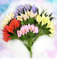 Free shipping Mini Calla Lily Flowers For Wedding Invitation Card Decor 144pcs/lot