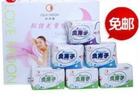 Free Shipping Lovemoon Sanitary napkin towels Panty liners day use night use pads set 30pcs/package 19 packages/Lot