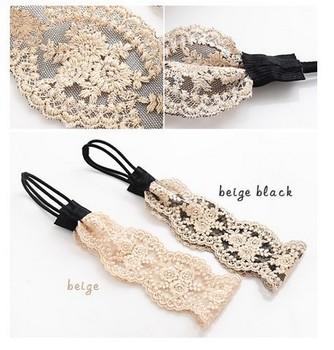 free shipping/5pcs/lot 2013 fashion women headband,lace flower hair band stylish hair accessory