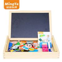 Magnetic magnetic puzzle oppssed multifunctional drawing board wooden puzzle baby toy